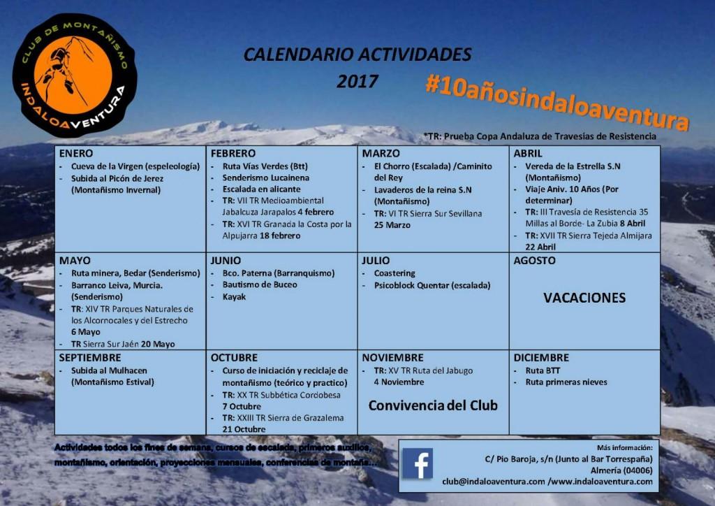 Calendario Actividades 2017
